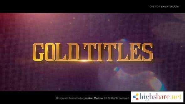 gold titles epical trailer 30482273 videohive 602a0d481515d - Gold Titles | Epical Trailer 30482273 Videohive
