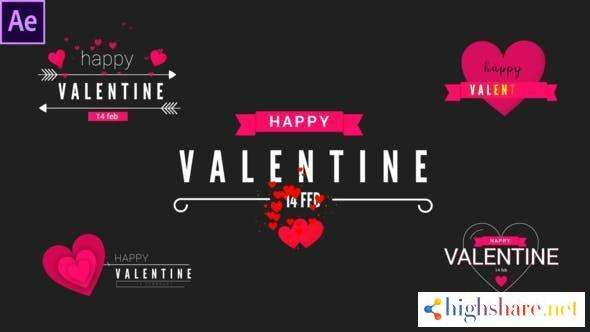 valentine modern titles 30365895 videohive 6024c6fbc4d5b - Valentine Modern Titles 30365895 Videohive