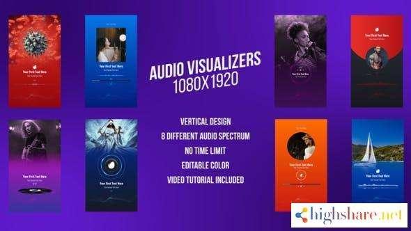 social media audio visualizers vertical design 31352153 videohive 6062b7392782f - Social Media Audio Visualizers, Vertical Design 31352153 Videohive