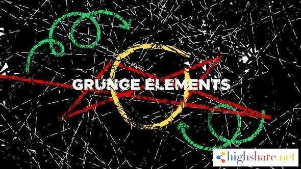 grunge elements 31532648 videohive 60752bebde3da - Grunge Elements 31532648 Videohive