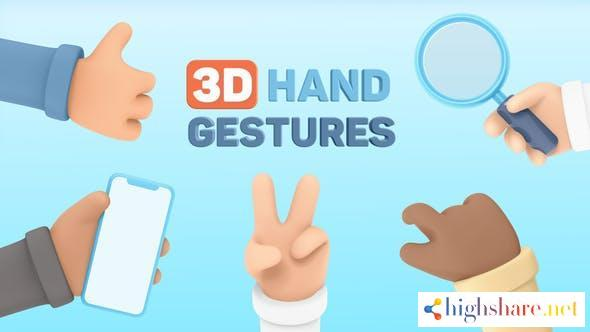 3d hand gestures 30620317 videohive 60ac8b141a2ae - 3D Hand Gestures 30620317 Videohive