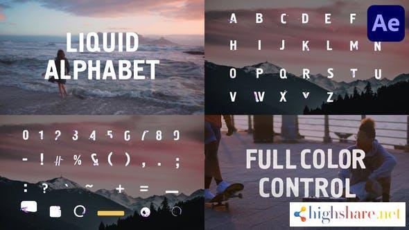 liquid alphabet after effects 32271418 videohive 60b9b9ece1eeb - Liquid Alphabet   After Effects 32271418 Videohive