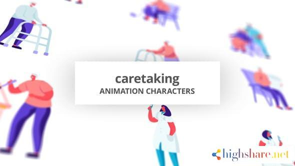 caretaking character set 32688775 videohive 60e1471424e95 - Caretaking Character Set 32688775 Videohive