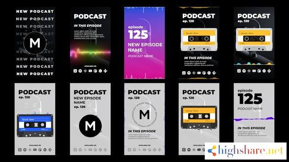 podcast stories pack 33018433 videohive 60ee75ede027b - Podcast Stories Pack 33018433 Videohive
