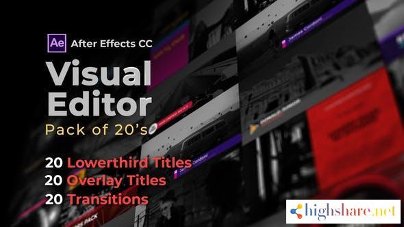 visual editor pack of 20s after effects version 32501062 videohive 61038e15ab2bc - Visual Editor Pack Of 20s | After Effects Version 32501062 Videohive