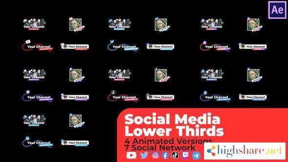 social media lower thirds v2 33633260 videohive 613aed14b634f - Social Media Lower Thirds v2 33633260 Videohive