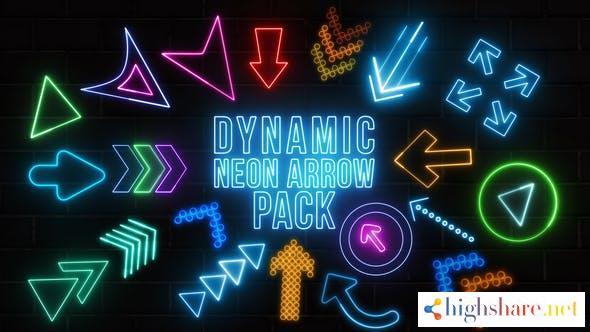 dynamic neon arrows pack 34200679 videohive 61724bf34b592 - Dynamic Neon Arrows Pack 34200679 Videohive