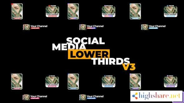 social media lower thirds v3 34229102 videohive 61724c1a00aed - Social Media Lower Thirds v3 34229102 Videohive